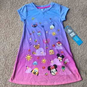 Little Girls Emoji Disney Character Nightgown